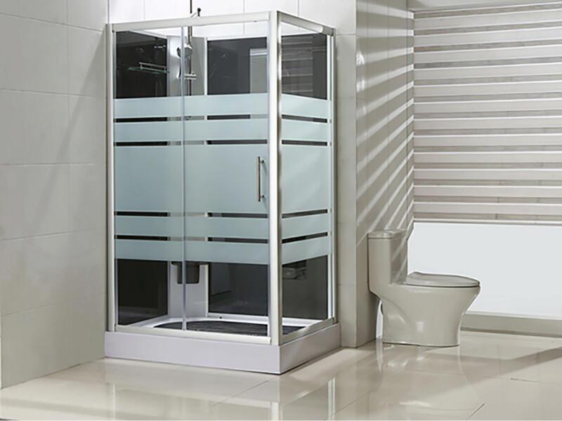 Thermo cabine de douche complète 120x90 cm gauche