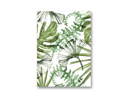 Art for the Home Toile imprimée 50x70 cm feuilles tropicales