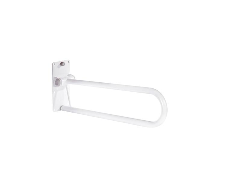 Toiletbeugel opklapbaar lang wit
