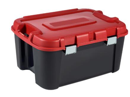 Keter Totem opbergkoffer 140l zwart-rood