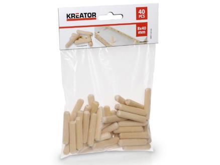 Kreator Tourillons 40x8 mm 40 pièces