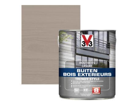 V33 Trendy Style houtbeits buiten 2,5l zilver grijs