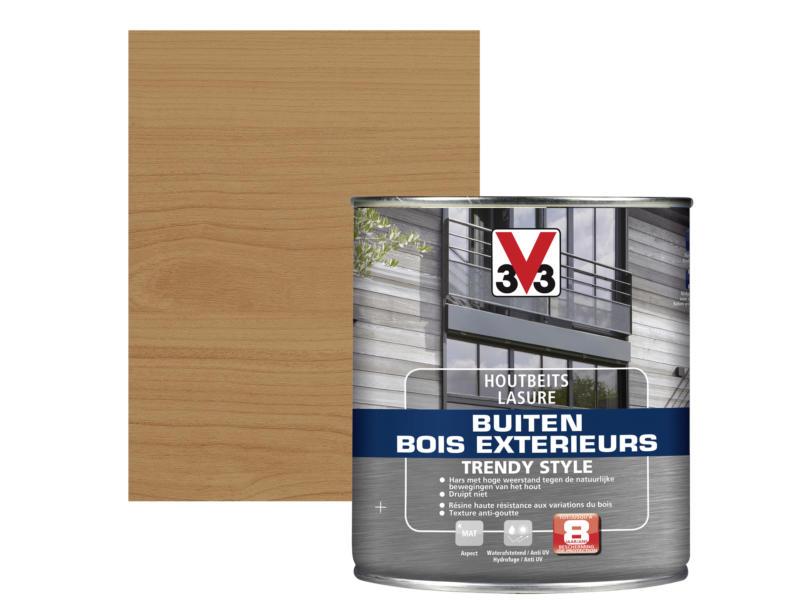 V33 Trendy Style lasure bois extérieur 0,75l cèdre vieilli