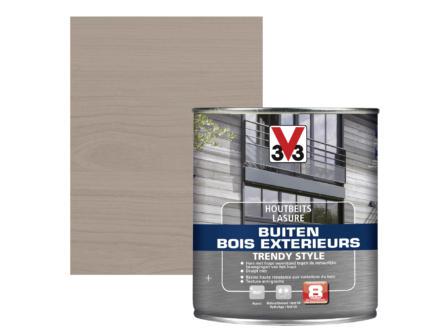 V33 Trendy Style lasure bois extérieur 0,75l gris argenté