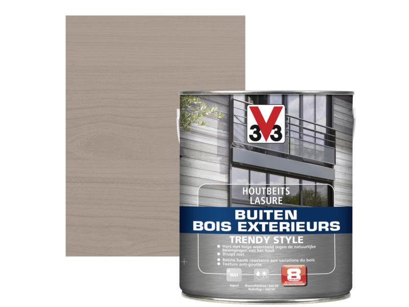 V33 Trendy Style lasure bois extérieur 2,5l gris argenté
