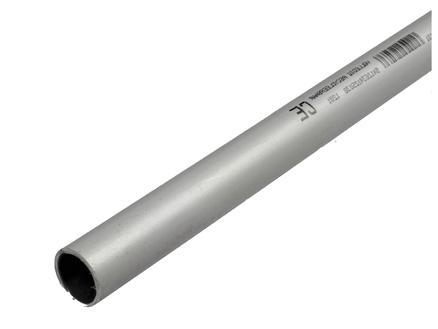 Tube 20mm 3m PVC gris