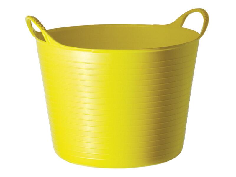 Tubtrug flexibele tuinmand 26l geel