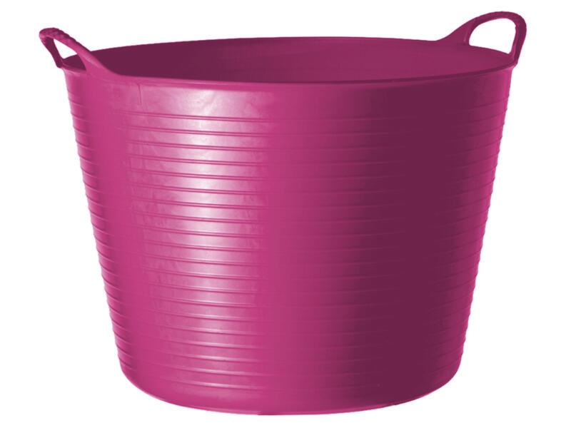 Tubtrug flexibele tuinmand 26l roze