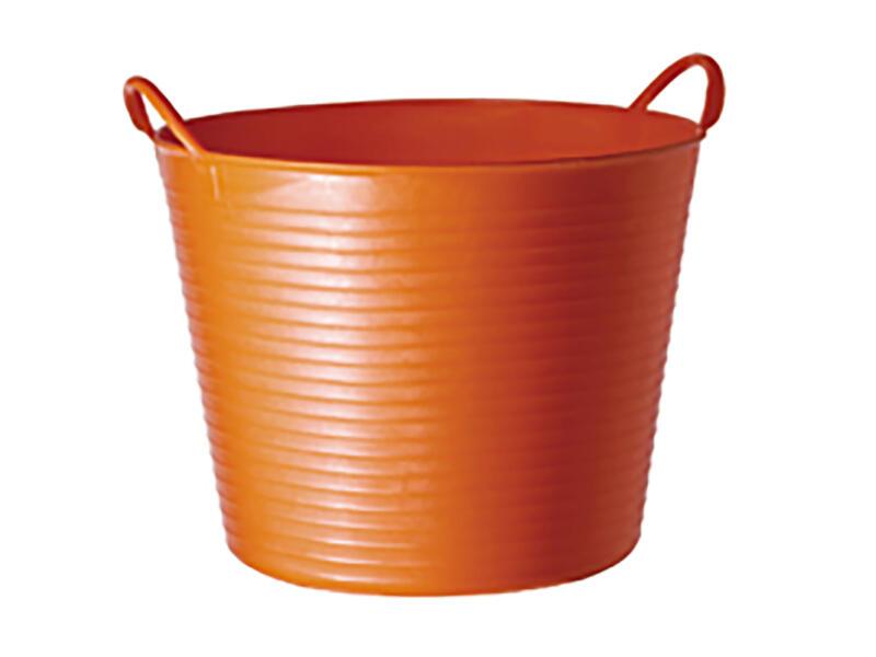 Tubtrug flexibele tuinmand 42l oranje