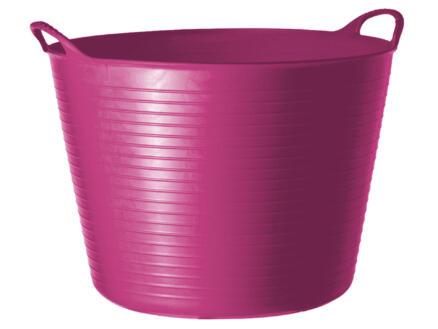 Tubtrug flexibele tuinmand 42l roze