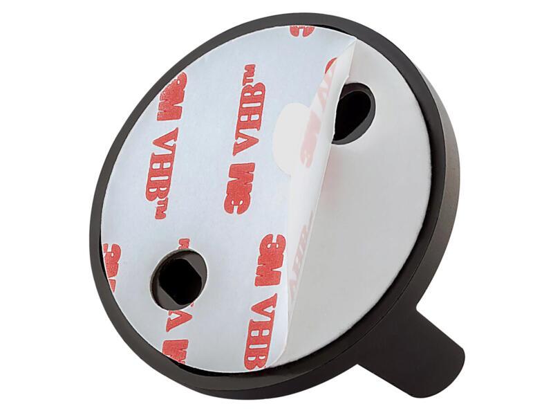 Tiger Tune WC-rolhouder met klep inox/zwart