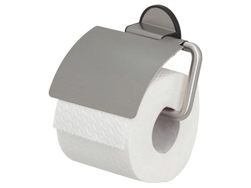 Tiger Tune porte-papier toilette avec clapet acier inox/noir