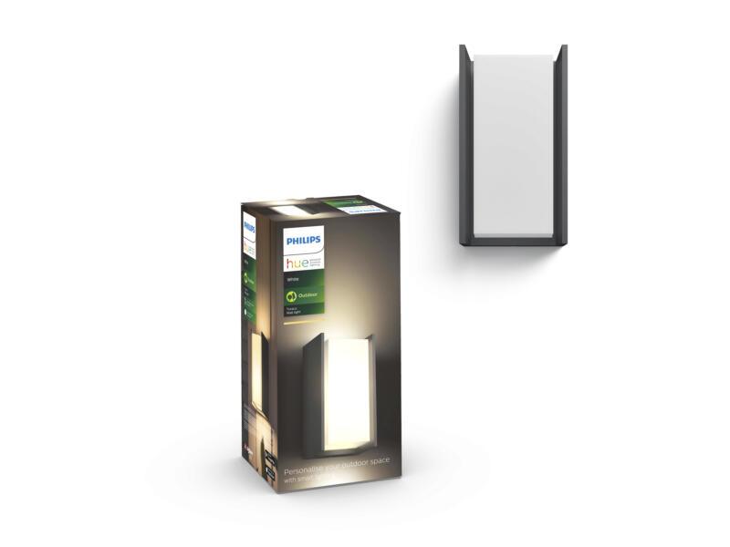 Philips Hue Turaco wandlamp E27 9W dimbaar grijs