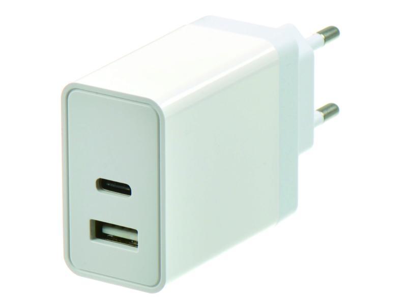 USB lader USB-A/USB-C 18W