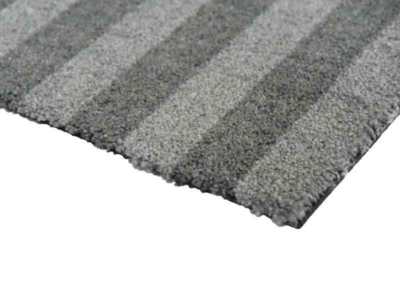 Ultra paillasson antisalissures lignes 50x70 cm gris