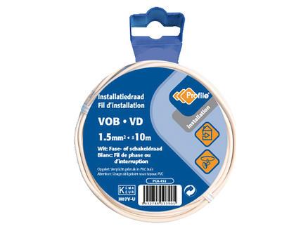 Profile VOB-kabel 1,5 10m wit