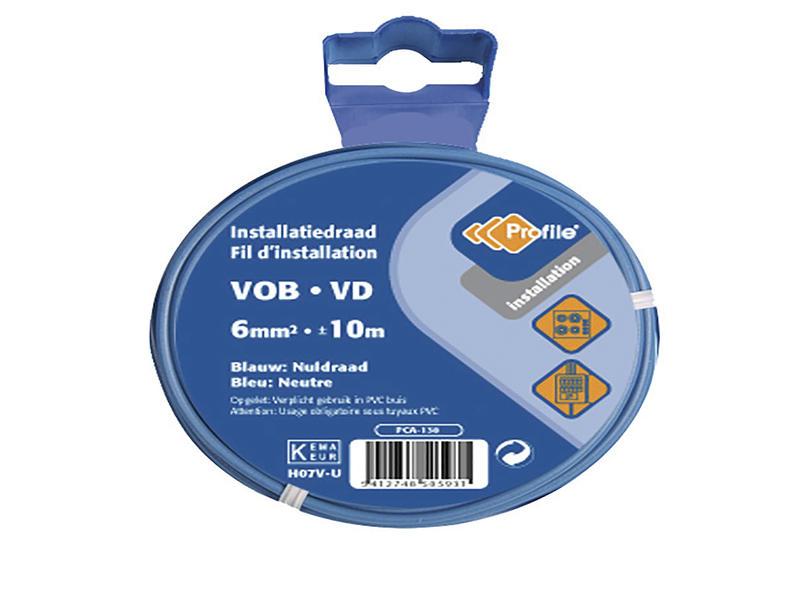 Profile VOB-kabel 6mm² 10m blauw