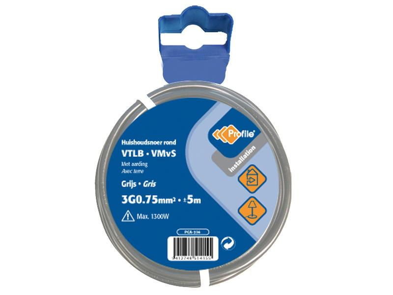 Profile VTLB 3G0,75 gris 5m blister