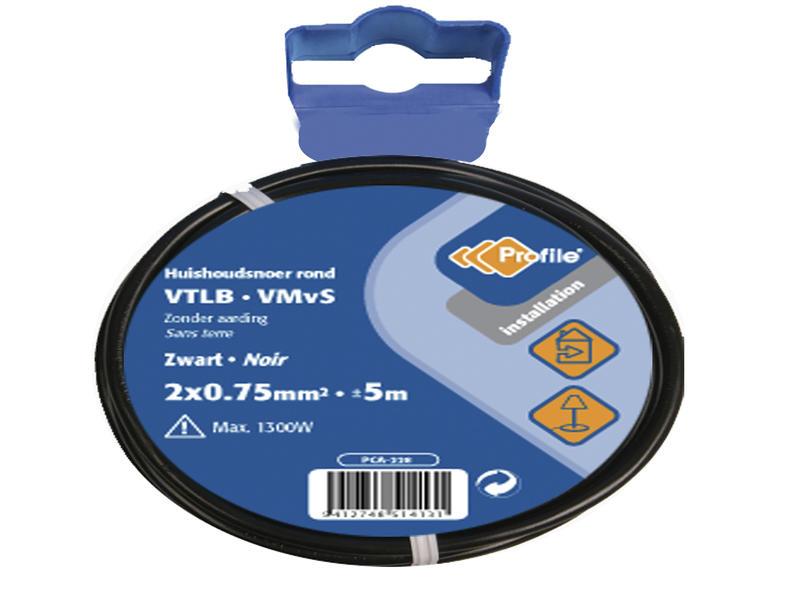 Profile VTLB-draad 2G 0,75mm² 5m zwart