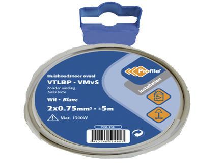 Profile VTLBP-draad 2G 0,75mm² 5m wit