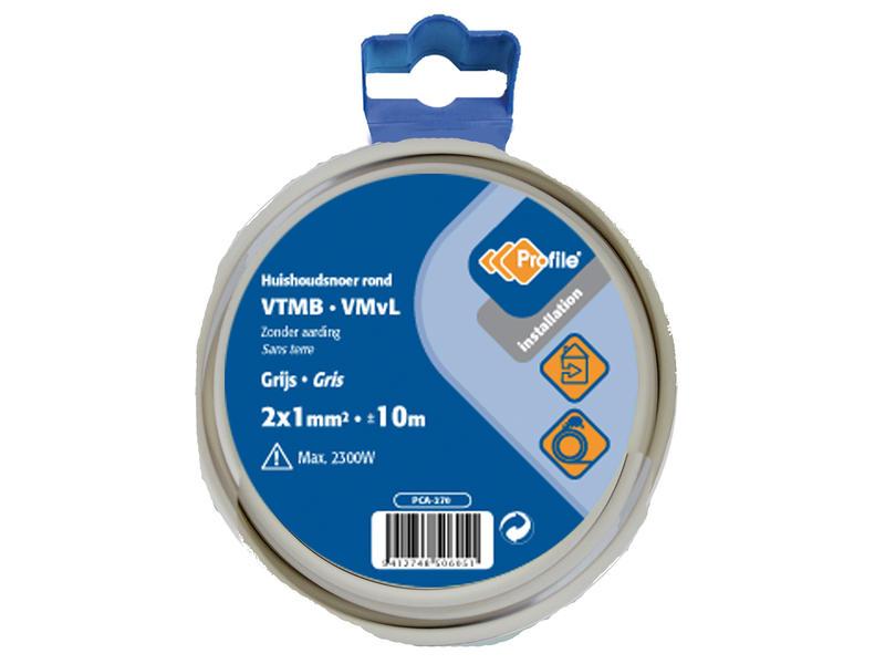 Profile VTMB 2x1 grijs 10m blister