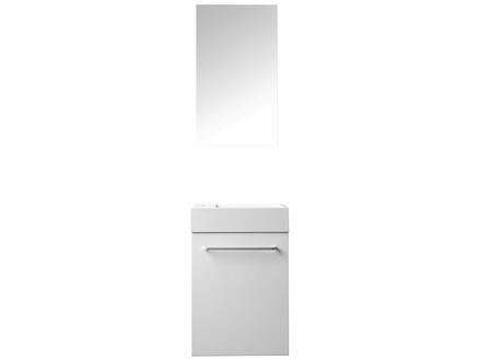Aqualine Valencia lave-mains 40cm miroir intégré blanc