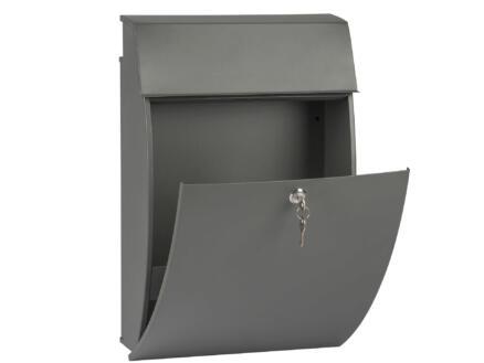 Practo Garden Vancouver brievenbus mat staal grijs