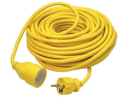 Verlengsnoer 20m 3G 1,5mm² geel