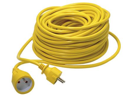 Verlengsnoer 30m 3G 1,5mm² geel