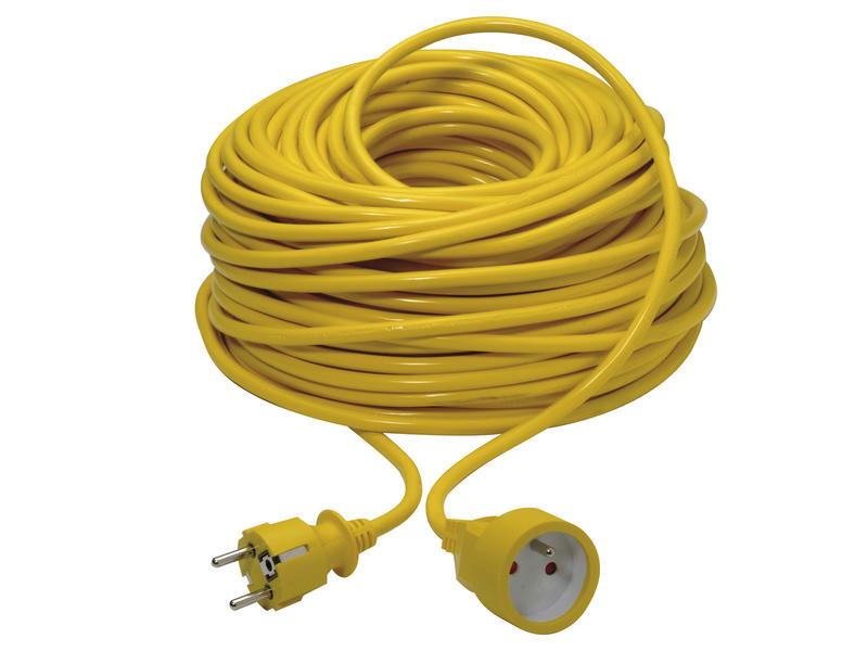 Verlengsnoer 50m 3G 1,5mm² geel