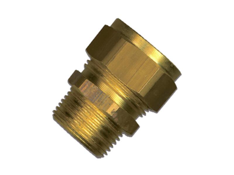 Saninstal Verloopmof knelkoppeling M 1/2  x 10mm messing