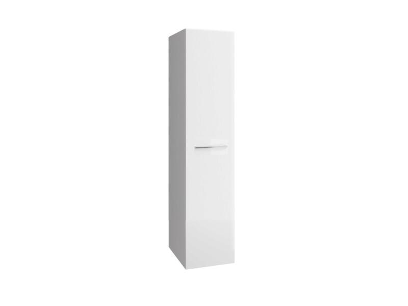Allibert Verone meuble colonne 40cm blanc brillant