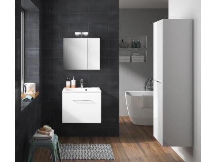 Allibert Verone meuble lavabo 60cm blanc brillant