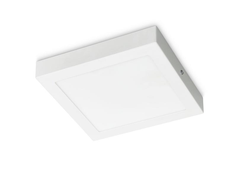 Prolight Villo plafonnier LED carré 18W blanc