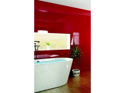 Lafiness Vistelle panneau mural 100x244 cm acryl rouge