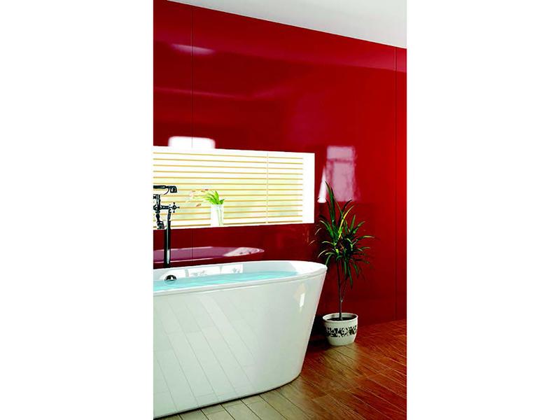 Lafiness Vistelle wandpaneel 100x207 cm acryl rood