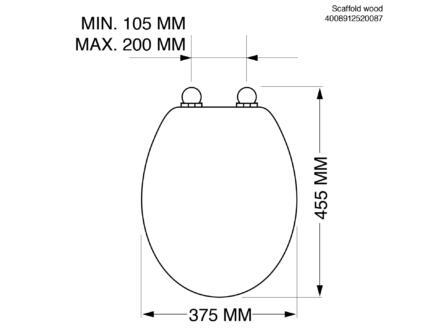 Tiger WC-bril steigerhout