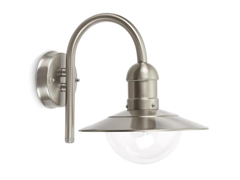 Prolight Wandlamp helder lens 60W E27 inox exclusief lamp