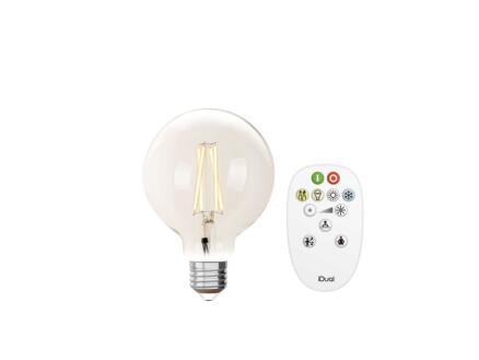 iDual White G125 LED bollamp filament E27 9W dimbaar helder + afstandsbediening