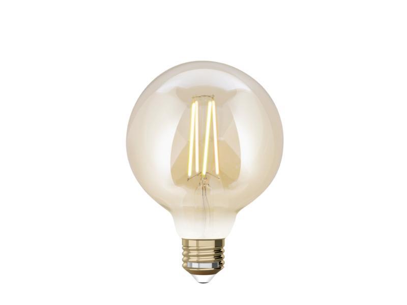 White G95 ampoule LED globe filament E27 9W dimmable ambre