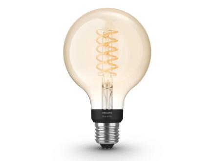 Hue White LED bollamp filament E27 9W dimbaar