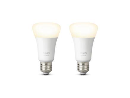 Hue White LED peerlamp E27 9W dimbaar 2 stuks