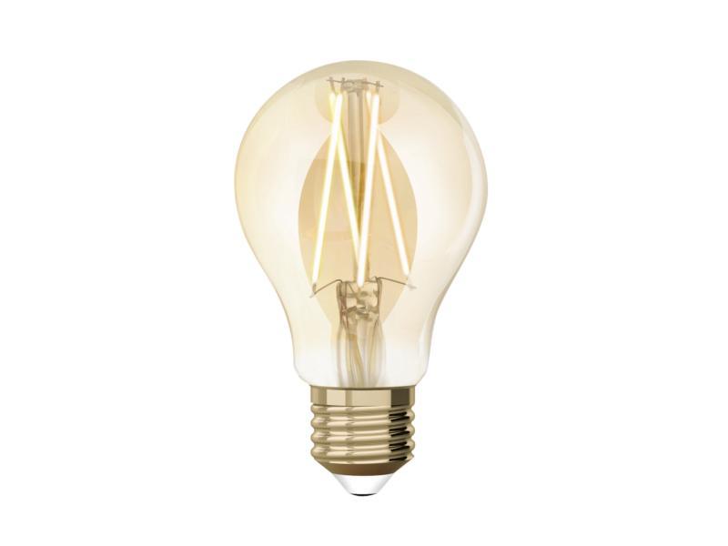 White ampoule LED poire filament E27 9W dimmable ambre