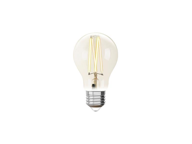 White ampoule LED poire filament E27 9W dimmable clair