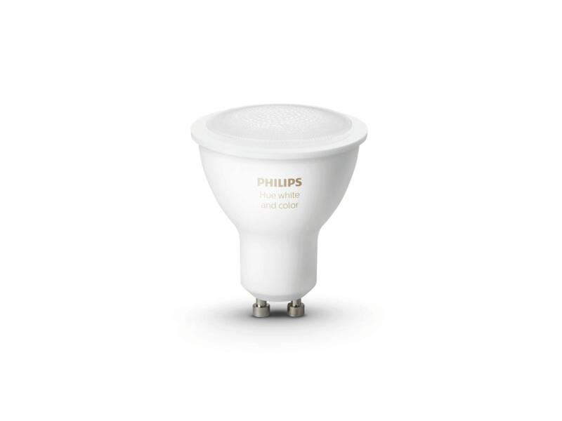 Hue White and Color LED spot GU10 6,5W dimbaar