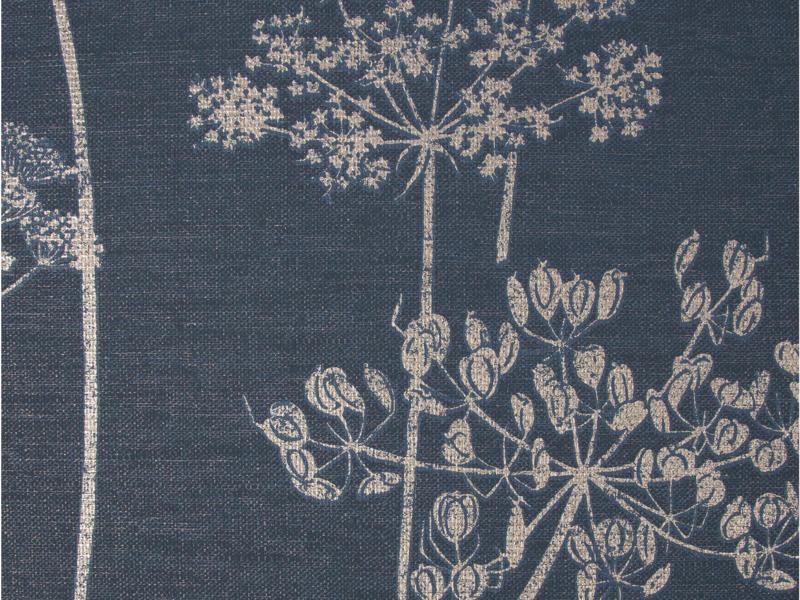 Wild Flower vliesbehang 52cm 10,05m blauw