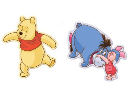 Disney Winnie l'Ourson stickers mousse multicolore 2 pièces