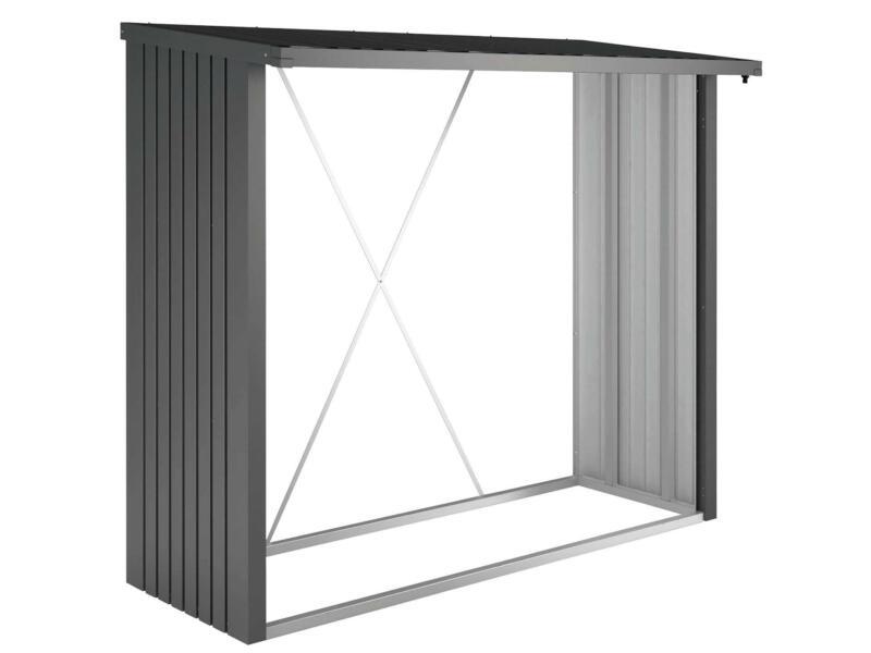 Biohort WoodStock 230 abri bûches 229x102x199 cm gris foncé métallique