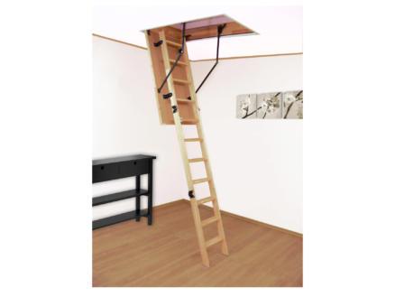 Altrex Woodytrex Budget escalier escamotable en 3 parties 120x70 cm bois