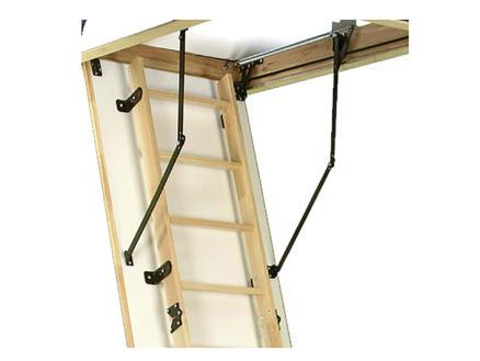 Altrex Woodytrex Superieur escalier escamotable en 3 parties 120x70 cm bois